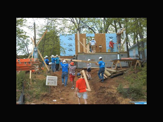 Participated in First Annual Technology Community Habitat for Humanity House Build